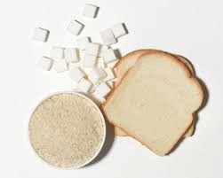 white bread and sugar
